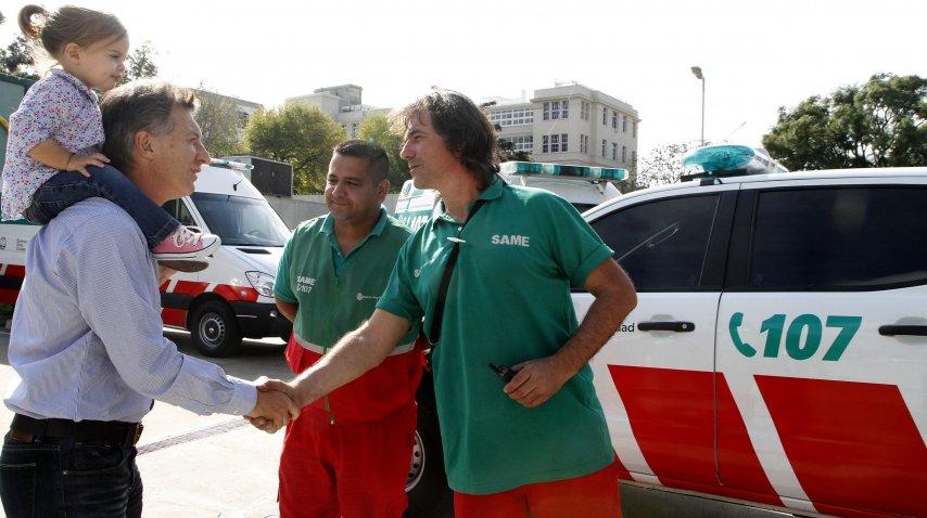Con Vidal y Larreta, por el SAME