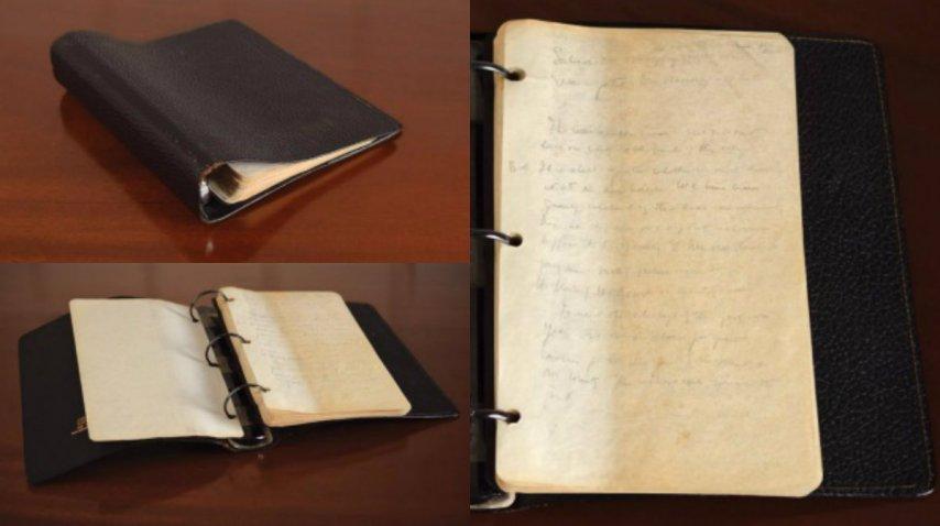 El diario de Kennedy, de puño y letra<br>