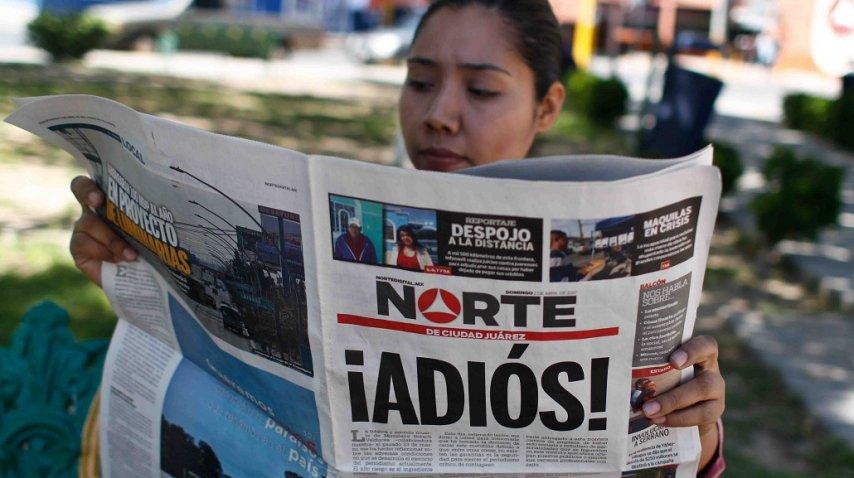 <p>Cerró el diario Norte de Ciudad Juárez</p><p></p>