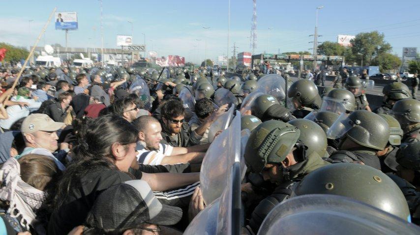 <p>La represión de Gendarmería en Panamericana y 197</p>