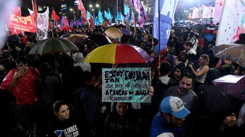 Manifestación en el Obelisco por Micaela García