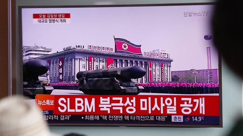 Misiles de Corea del Norte en la TV