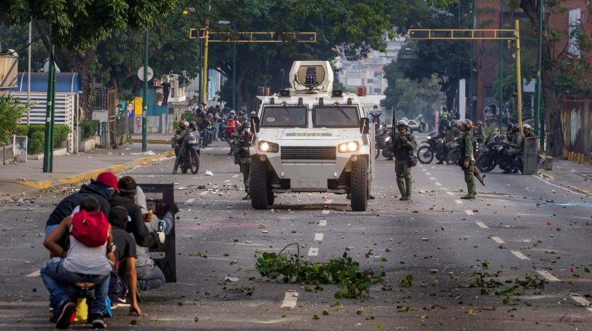 Enfrentamientos en las calles de Venezuela<br>