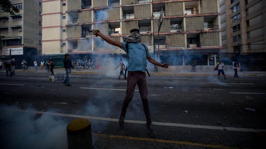 Las calles de Venezuela se bañaron de sangre durante las protestas<br>