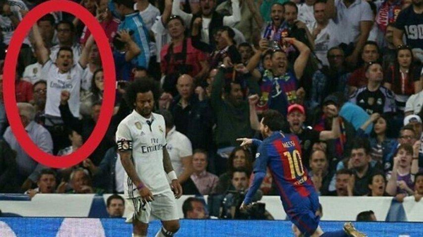 El hincha del Madrid que gritó el gol de Lionel<br>