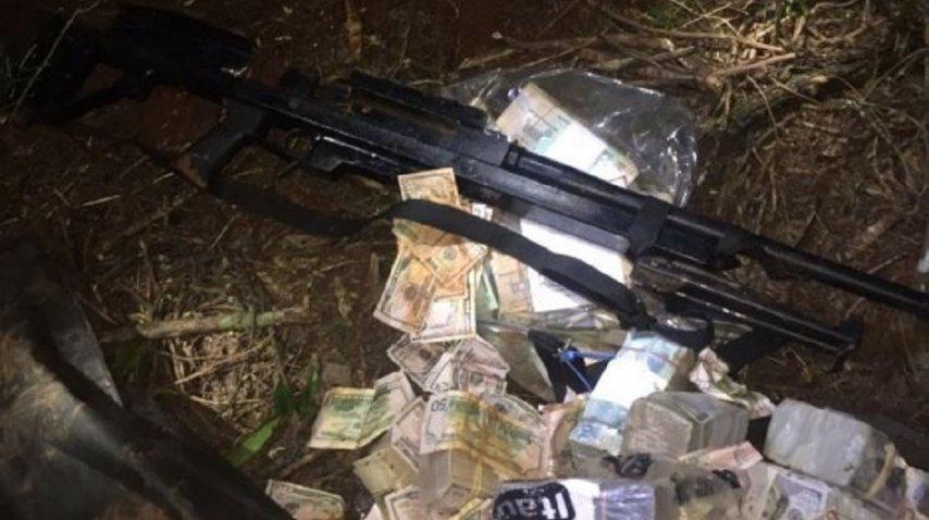 Parte del botín hallado del mega golpe a Prosegur en Ciudad del Este<br>