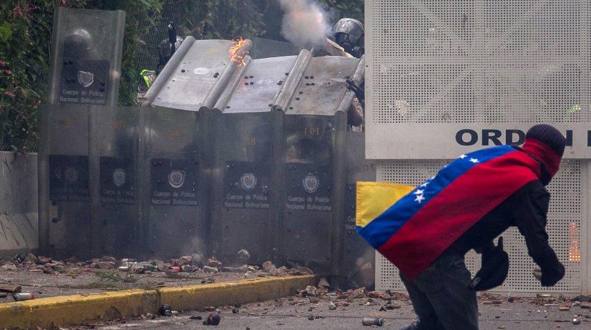 Violencia en las calles de Venezuela<br>