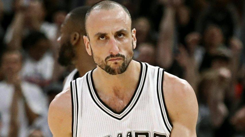 Emanuel Ginóbili, una de las figuras de San Antonio Spurs vs Houston Rockets