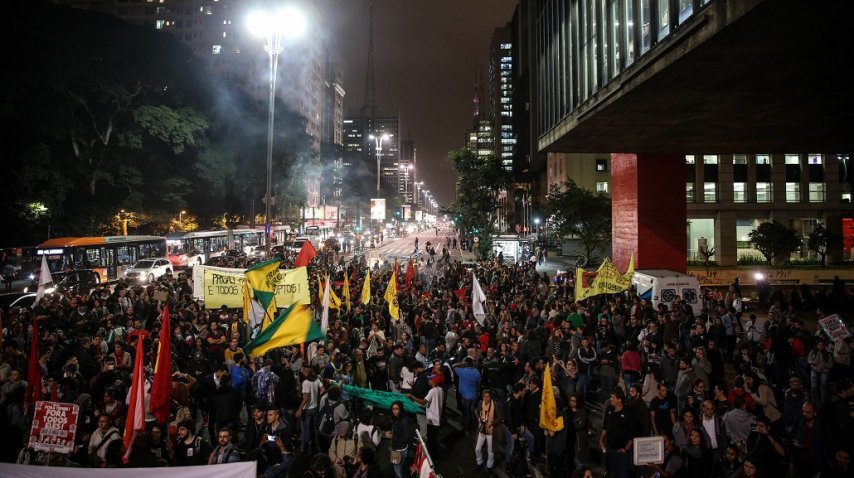 <p>Marchas en Brasil contra Temer</p><p></p>