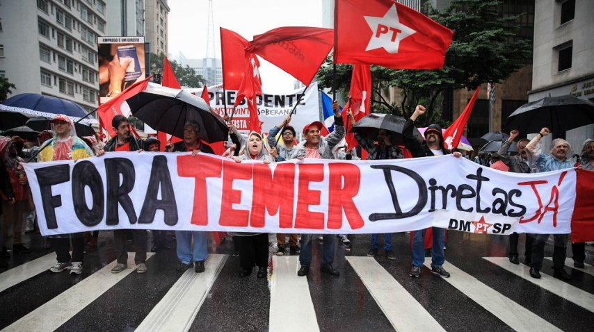 <p>Marcha por la renuncia de Temer</p><p></p>