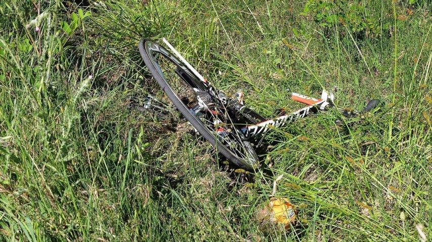 La bicicleta de Hayden, completamente destrozada