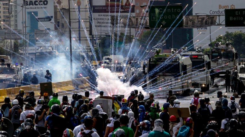 Otra jornada de protestas en Venezuela<br>
