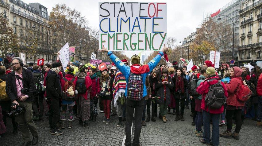 Protesta contra el calentamiento global