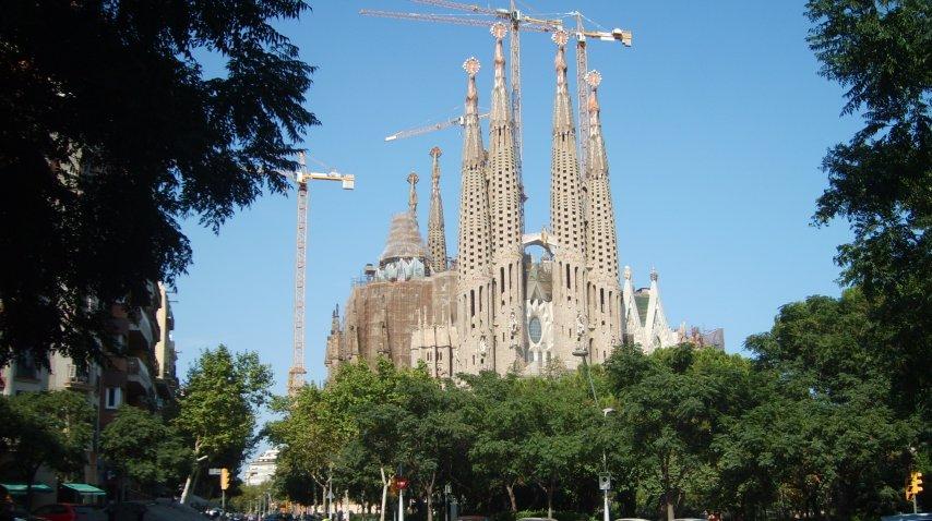 La Sagrada Familia es uno de los sitios más visitados de Europa<br>