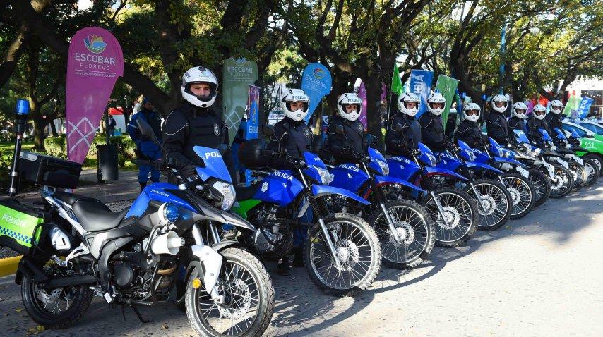 Nuevas motos para las fuerzas de Escobar