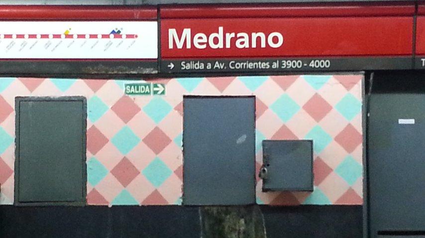 La estación Medrano de la línea B del Subte se llama ahora Medrano-Almagro<br>