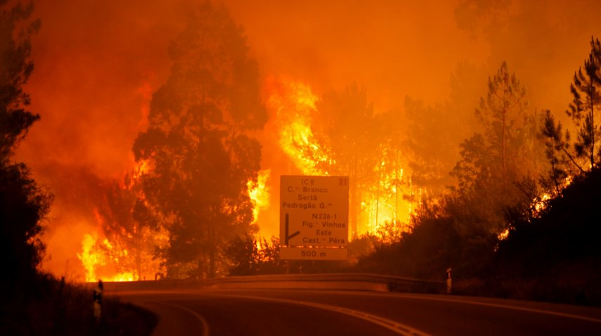 <p>Incendio en el centro de Portugal</p><p></p>