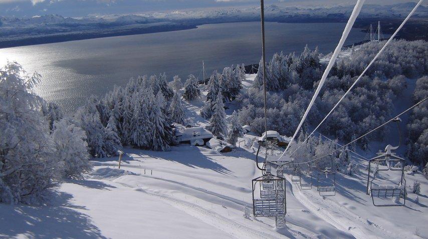 Bariloche ya está blanca y lista para recibir un aluvión de visitantes<br>