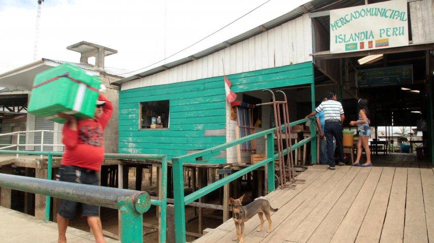 La localidad cuenta con un mercado que está suspendido para evitar inundaciones<br>