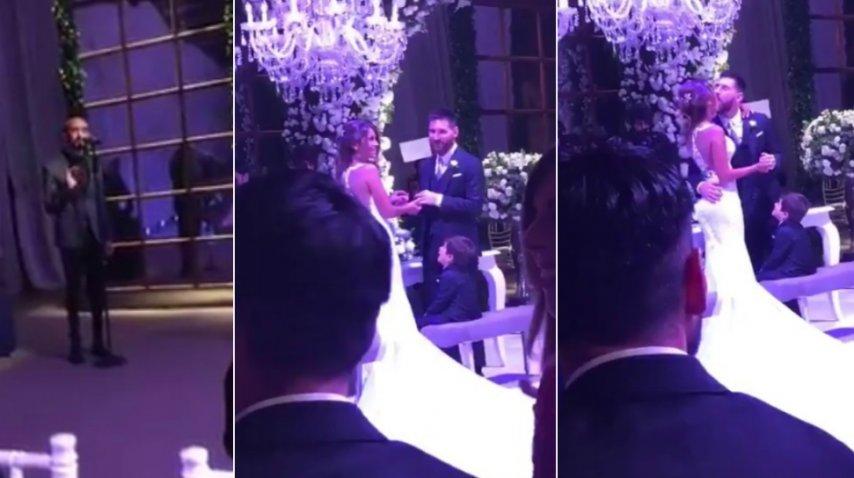 <p>Abel Pintos cantó durante el sí en el casamiento de Messi y Antonella</p>