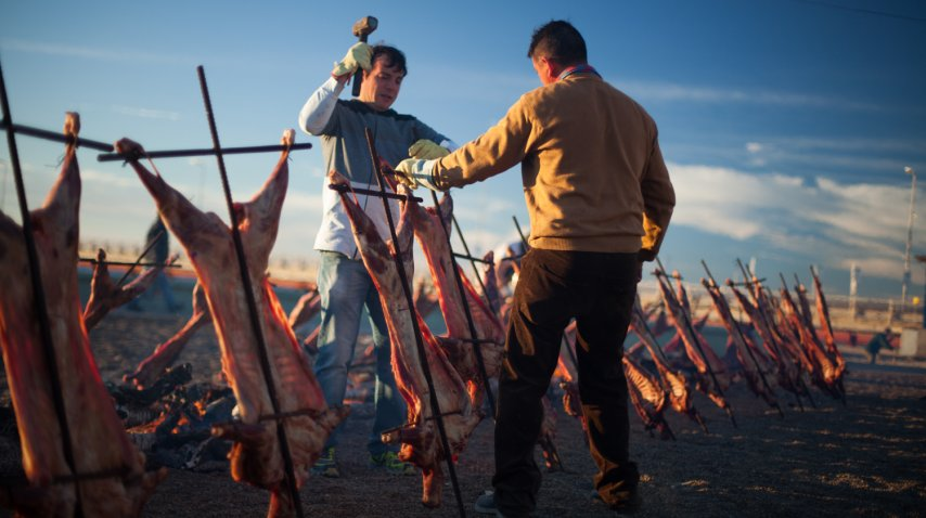 Se asaron 76 corderos para toda la concurrencia<br>