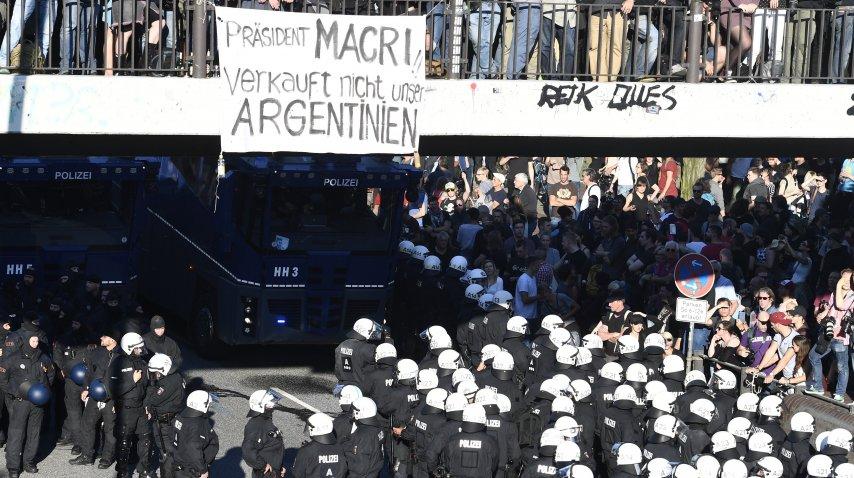 Protestas contra Macri en la cumbre del G20 de Hamburgo