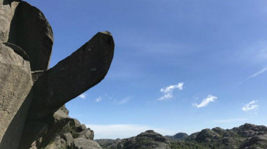 La formación rocosa en toda la plenitud de su estado original<br>
