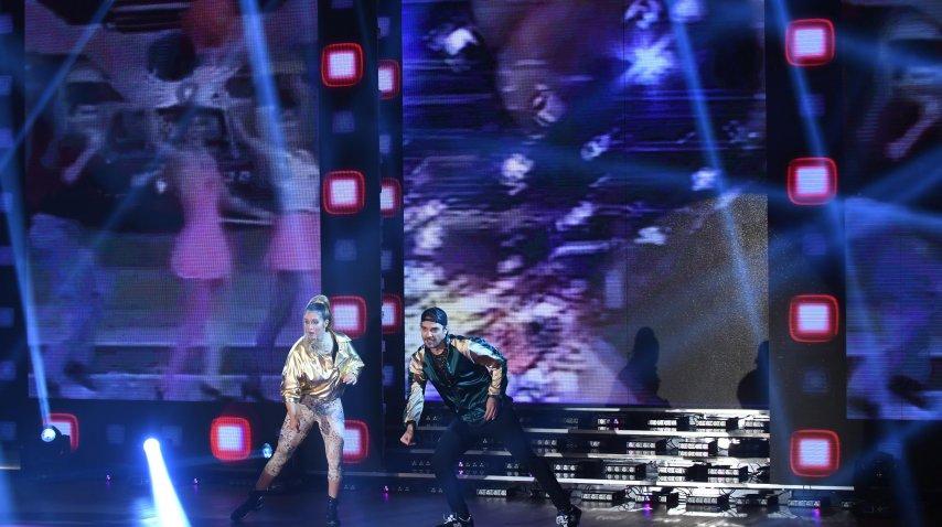Pedro Alfonso y Flor Vigna bailaron el hit de The Sacados<br>