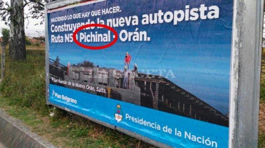 El Gobierno anunció el fin de obra den una localidad que no existe - Crédito: lagacetasalta.com.ar