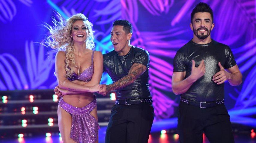 Brian Sarmiento baila con Sol Pérez y Fernando Bertona<br>