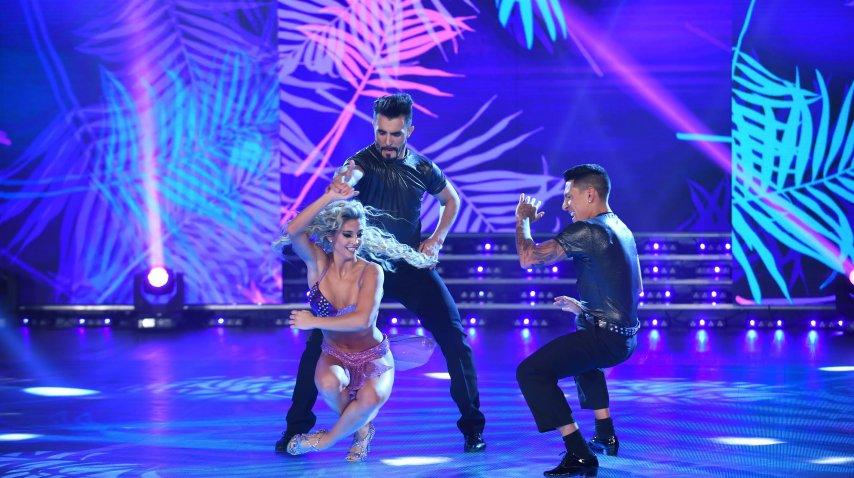 Sol Pérez baila con Fernando Bertona y Brian Sarmiento
