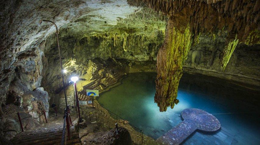 Este cenote tiene una de las bóvedas más impactantes<br>