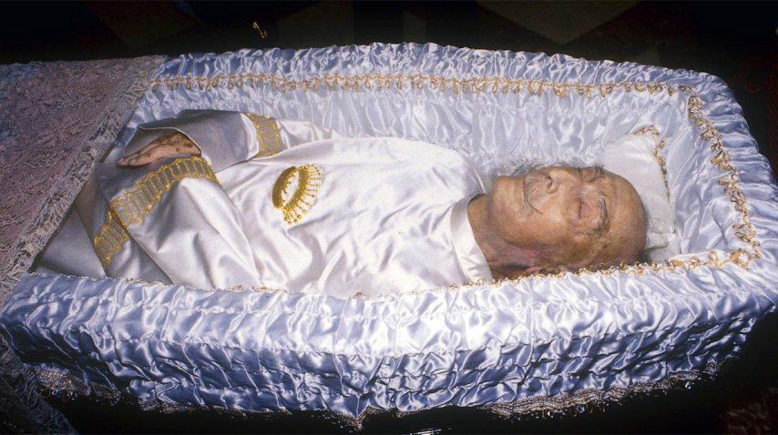 Una foto del velatorio de Salvador Dalí<br>