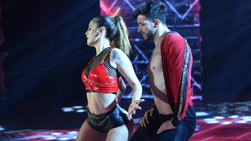 Silvina Luna con Leandro Nimo bailaron reggaetón romántico<br>