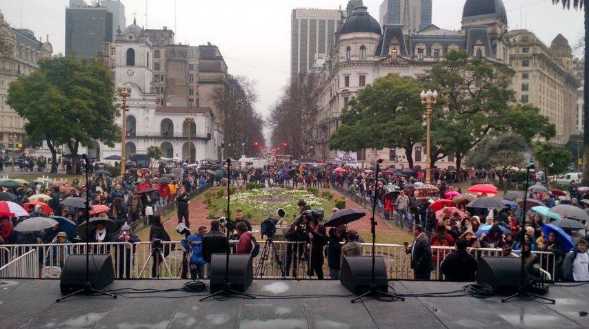Marcha a Plaza de Mayo por la inmediata aparición de Santiago Maldonado<br>